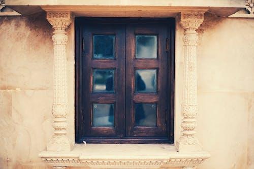 Бесплатное стоковое фото с Архитектурное проектирование, деревянное окно, индуистский храм, классический
