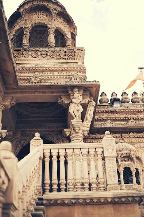 Бесплатное стоковое фото с Архитектурное проектирование, индуистский храм, лестница, старый