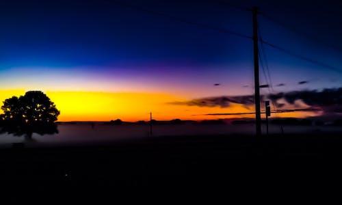 Darmowe zdjęcie z galerii z natura, sylwetka, zachód słońca