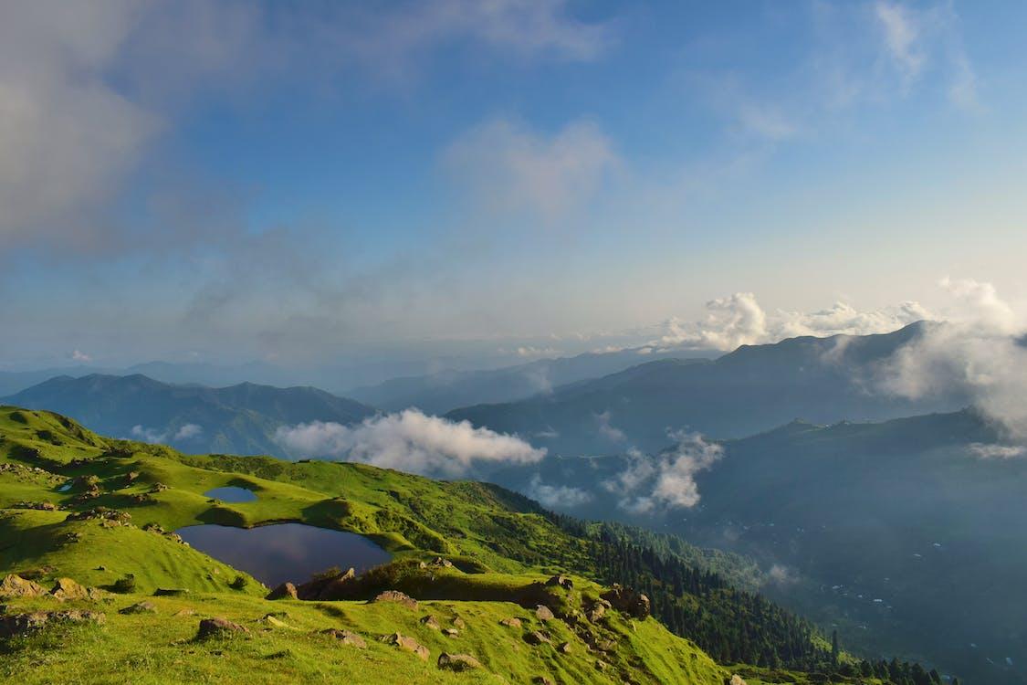 4k-háttérkép, domb, ég