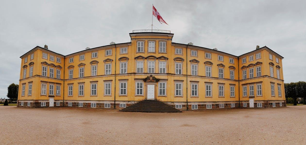 castle, denmark, europe