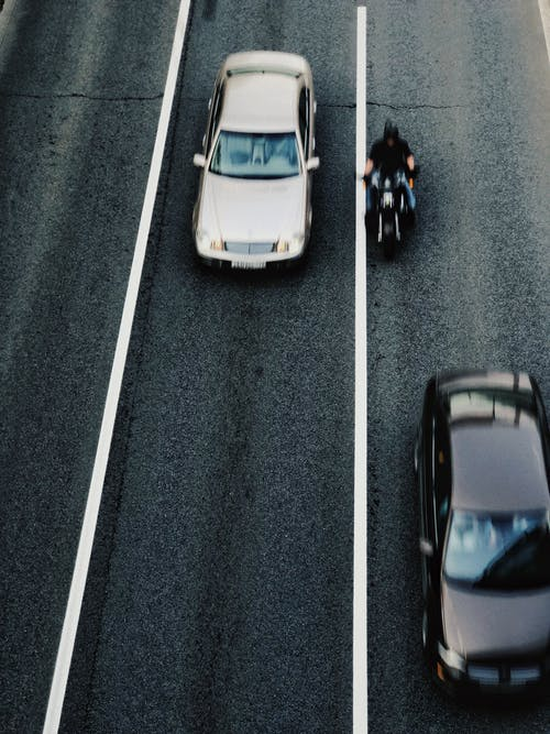 Panning Photo of Cars and Motorcycle
