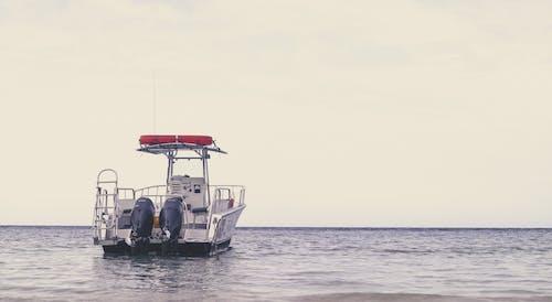 Free stock photo of anchor, boat, horizon