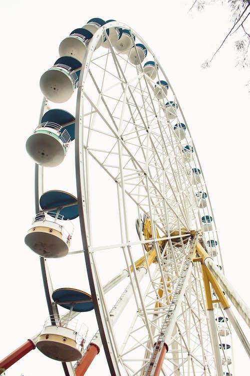 摩天輪, 遊樂園 的 免费素材照片