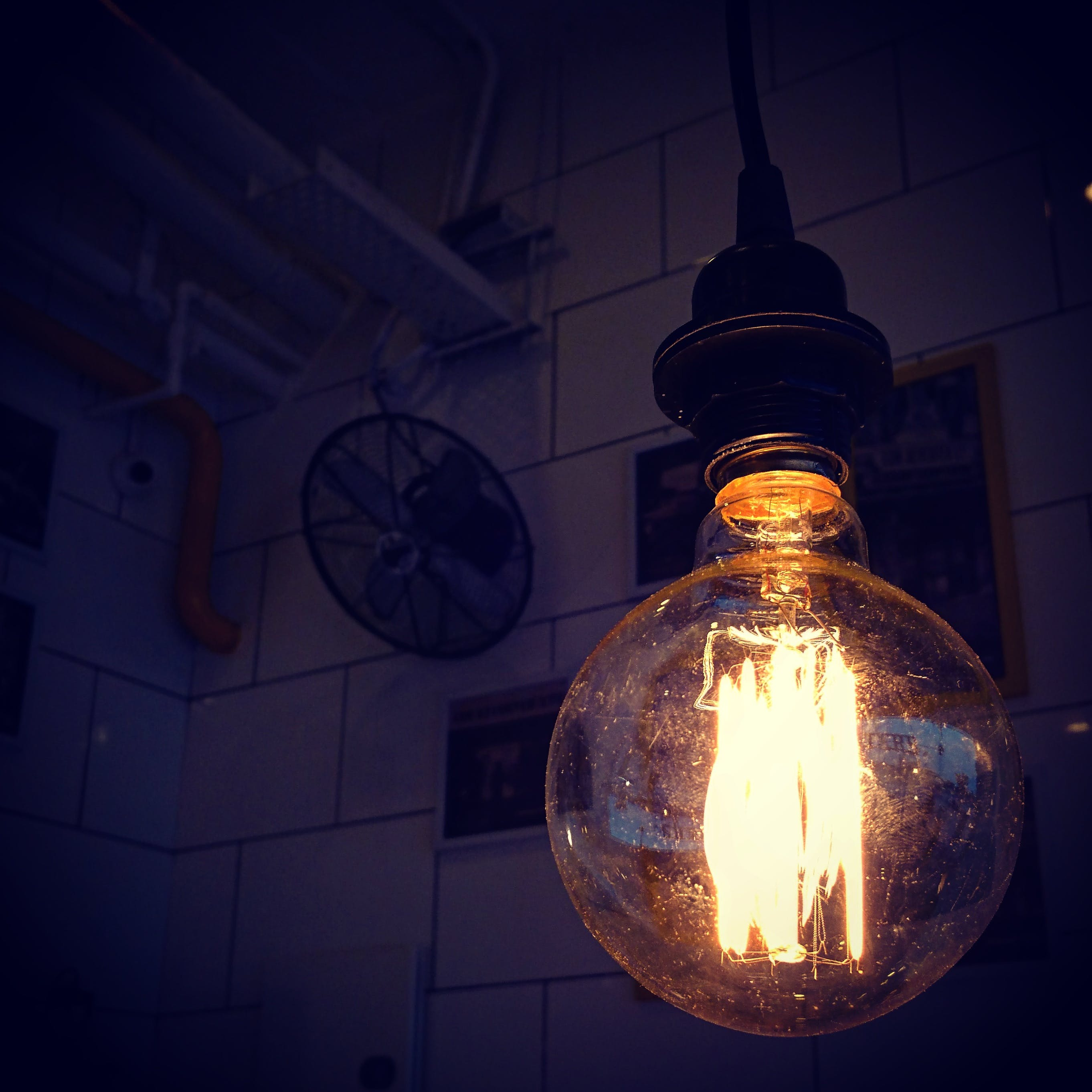 ball-shaped, bright, bulb
