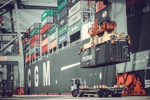 Free stock photo of container, export, good, terminal