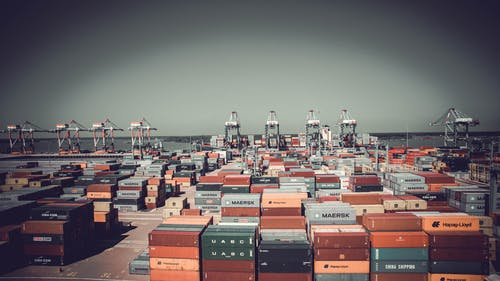 Free stock photo of container, export, terminal