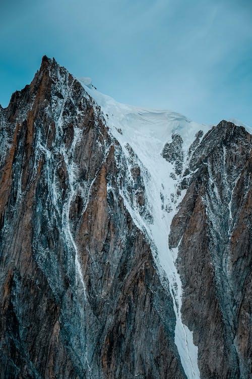 Kostenloses Stock Foto zu aufnahme von unten, berg, draußen, eis