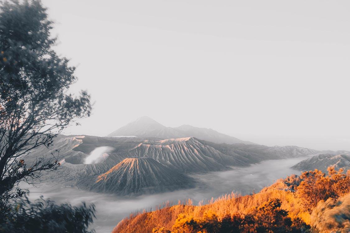 äventyr, bergen, bromo tengger semeru nationalpark