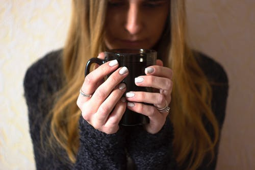 Woman Holding Mug Photography