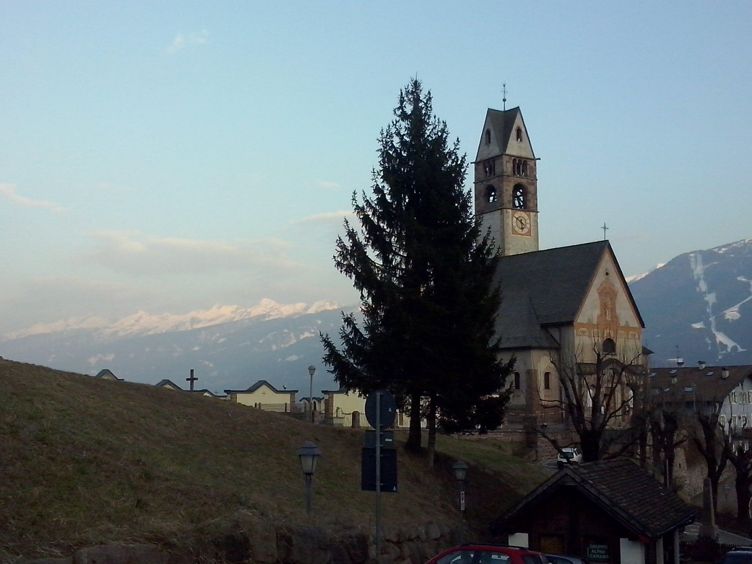 Free stock photo of Carano, church, dolomiti, Fiemme