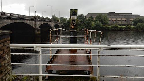 Free stock photo of Disused, metal frame, metal rail, pier
