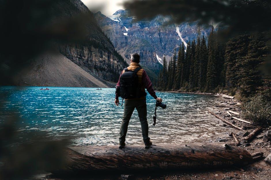 Man standing near water