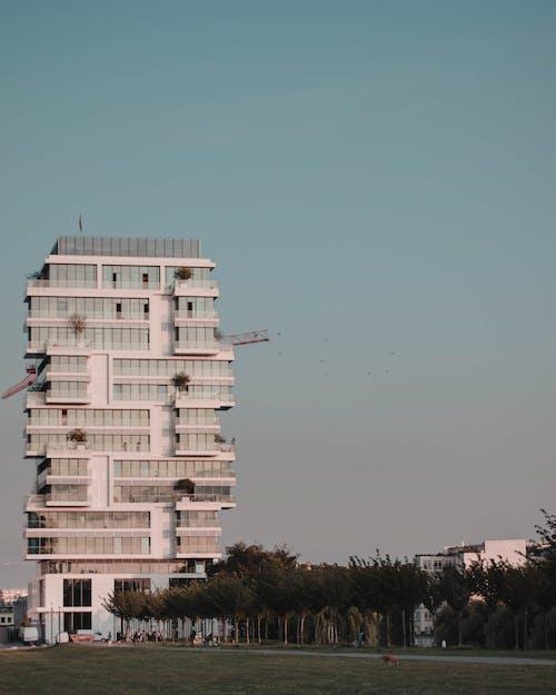 Gratis arkivbilde med arkitektonisk design, arkitektur, berlin, blå bakgrunn