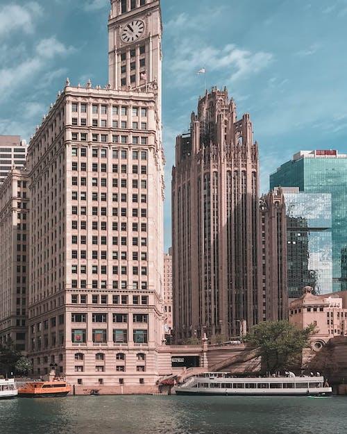 가장 높은, 강, 건물, 건물 외장의 무료 스톡 사진