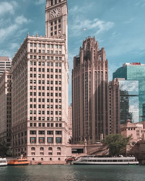 Gray Concrete Multi-story Buildings