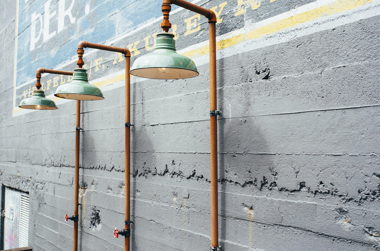 Brown Steel Pipes