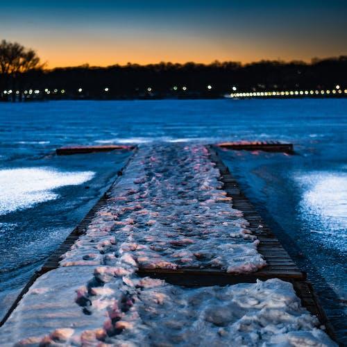 冰, 日出, 日落, 水 的 免费素材照片