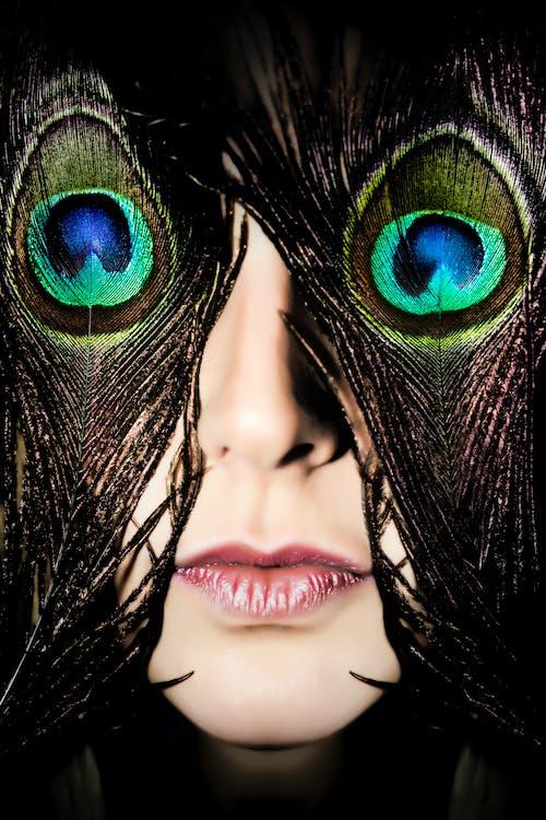 Free stock photo of blindfolded, close up, face