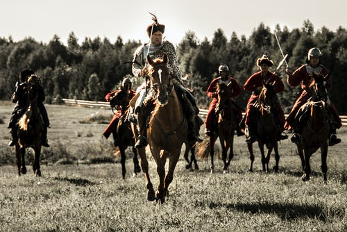 Free stock photo of battle, cavalry, historical, horses