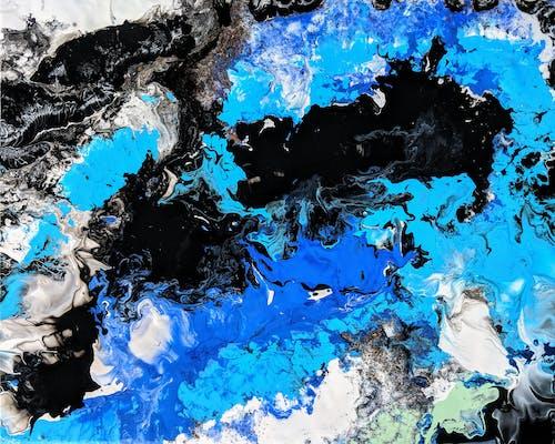 Kostnadsfri bild av abstrakt konst, abstrakt målning, havskonst, turkos konst