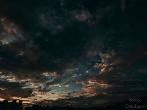 Free stock photo of clouds, dark clouds, evening, perspective