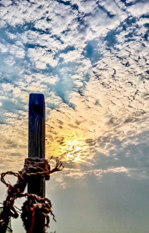 Free stock photo of Beautiful sunset, cloudy sky, evening sun