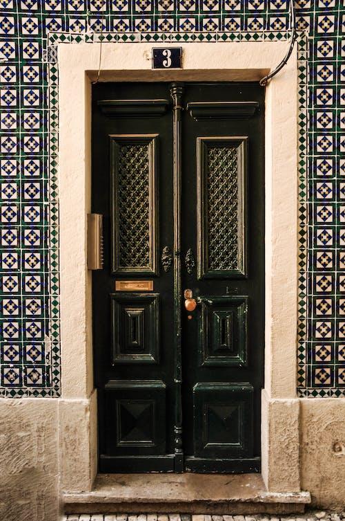 Free stock photo of architecture, door, facade, green