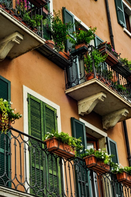 Free stock photo of architecture, balconies, building, facade