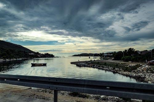 Free stock photo of dark clouds, Dark Sky, landscape, port
