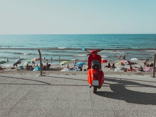 小型摩托車, 摩托車, 海, 海洋 的 免费素材照片