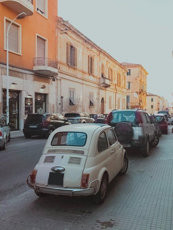 ancienne rue, architecture, automobiles