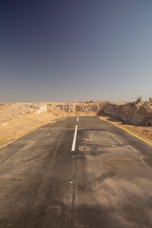Free stock photo of dead end, desert, highway, road