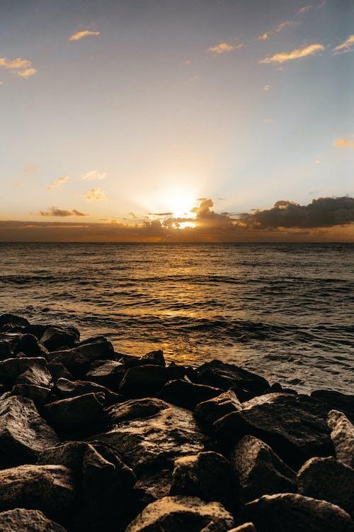 Základová fotografie zdarma na téma kameny, moře, obloha, oceán