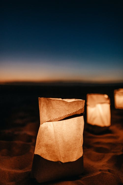 Lamps on Sand