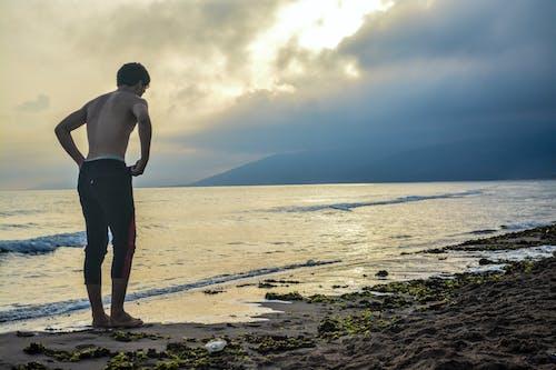 Free stock photo of beache, fitness, fitness model, focus
