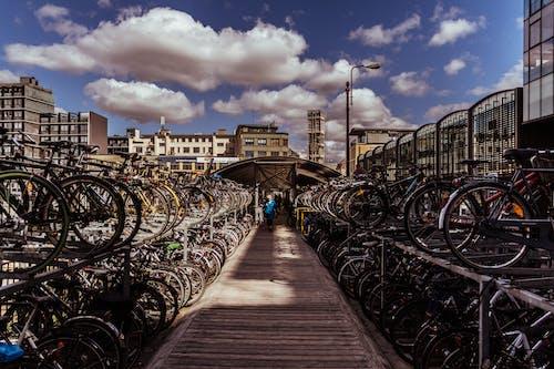 Foto profissional grátis de bicicleta, estacionamento de bicicletas, estacionamento para bicicletas
