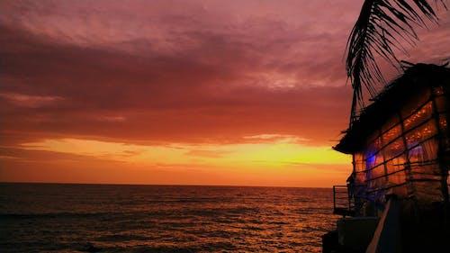 Fotobanka sbezplatnými fotkami na tému goa, krásny západ slnka, letné vibrácie, obloha
