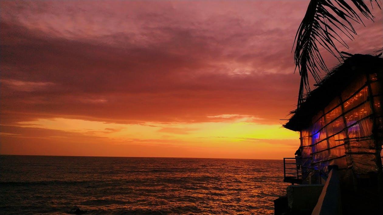 goa, himmel, solnedgång himmel