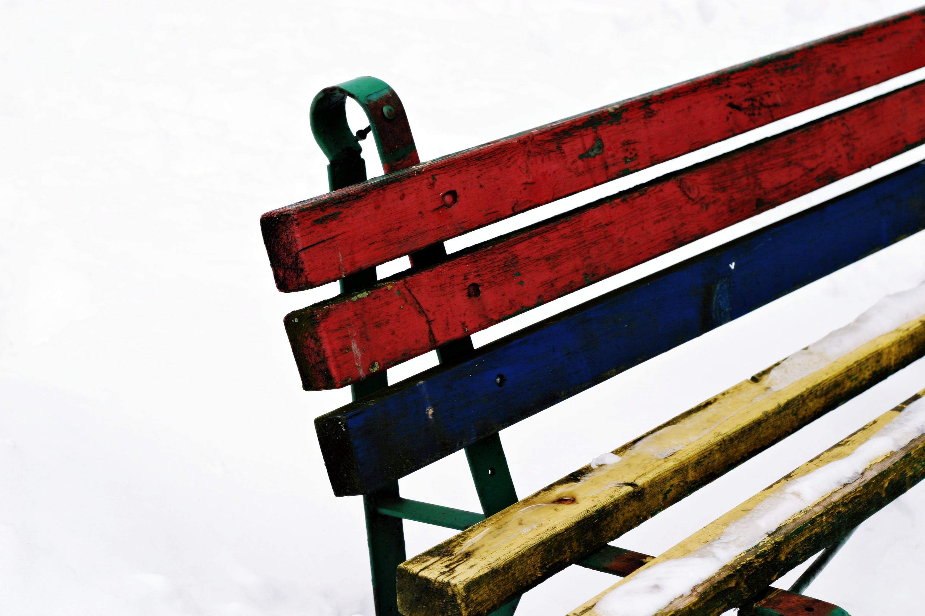 Free stock photo of bench, lines, white