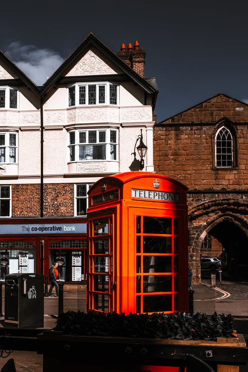 architettura, cabina telefonica, chester
