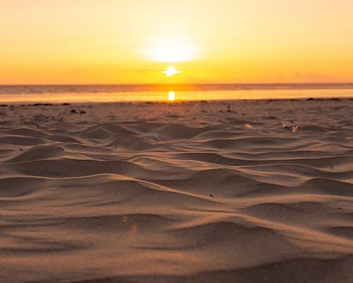 Free stock photo of beach sand, Beautiful sunset, sand, summer