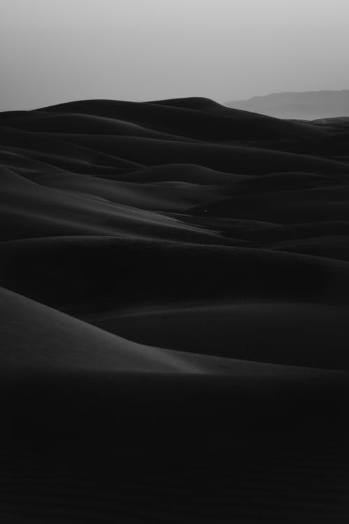 Black And White Photo Of Sand Dunes