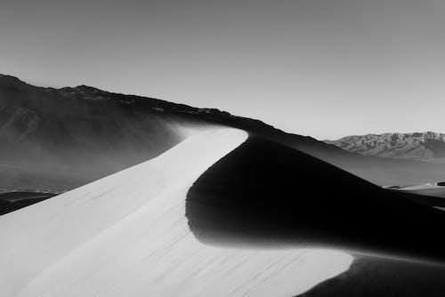 Fotografie bez autorských poplatků na téma černobílá, černobílý, Kalifornie, písečné duny