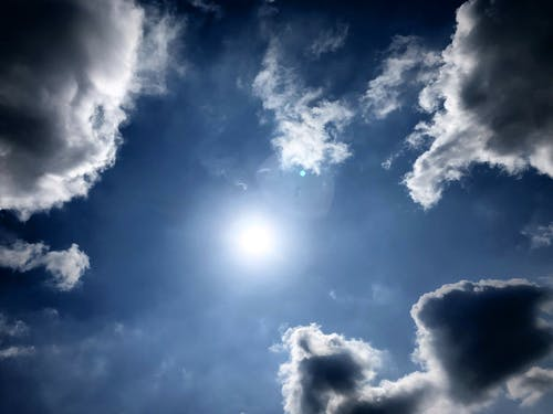 Free stock photo of clouds, sun