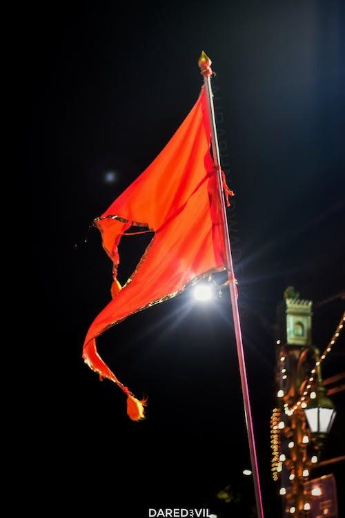 Immagine gratuita di arancia, asta portabandiera, bandiera, dipinto astratto