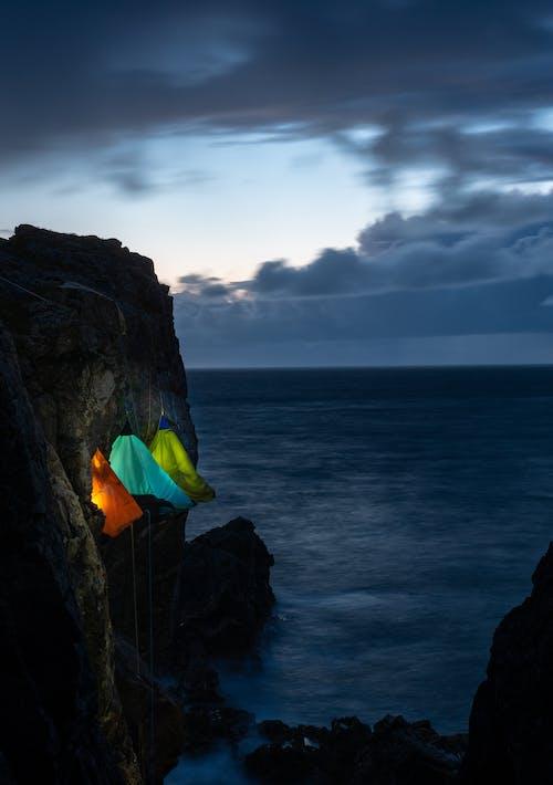 Бесплатное стоковое фото с море, на открытом воздухе, океан, палатки