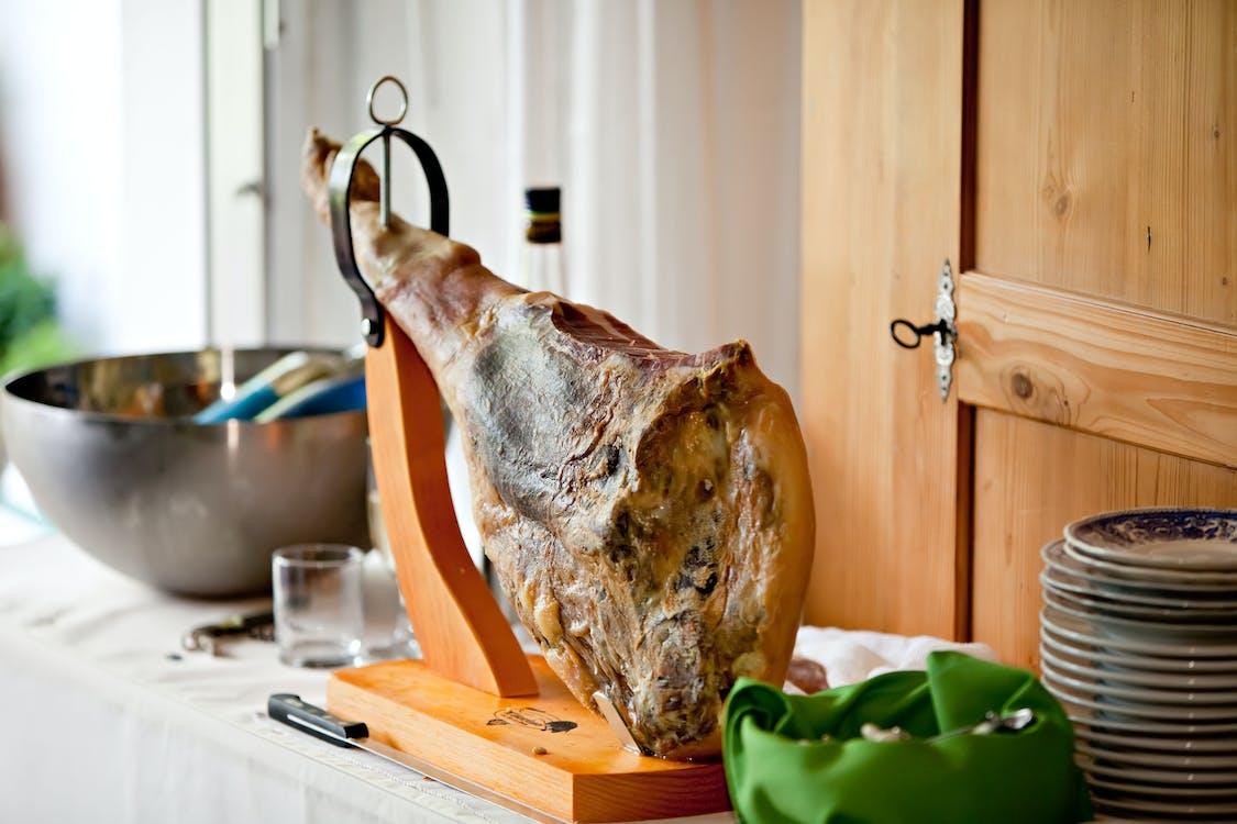 drewniany, drewno, fotografia kulinarna