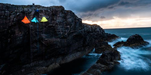 Imagine de stoc gratuită din amurg, cer cu nori, cliff edge, coastă de stâncă