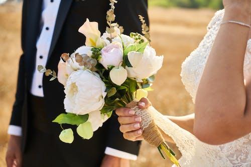 Foto d'estoc gratuïta de a l'aire lliure, arranjament floral, assolellat, blanc
